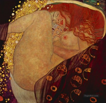 Danae Gustav Klimt Impressionistic nude Oil Paintings